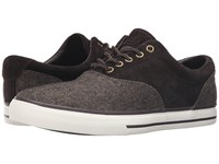 Polo Ralph Lauren Vaughn Saddle Dark Brown Dark Brown Menswear Tweed Sport Suede Men's Lace Up Casual Shoes Gray