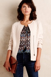 Knitted And Knotted Cableknit Blazer Ivory