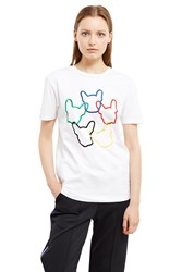 Tre C Cile Dog Ring T Shirt White