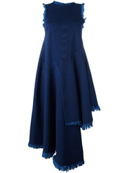 Marques Almeida Marques'almeida Frayed Asymmetric Sleeveless Dress Blue