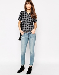 Blank Nyc Lightly Distressed Skinny Jeans Blue