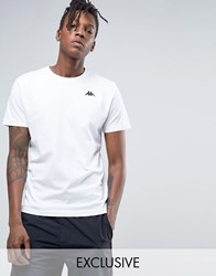 Kappa T Shirt With Small Logo White