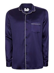 Topman Blue Navy And White Pyjama Style Smart Shirt