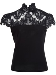 Alice Olivia Lace Detail Blouse Black