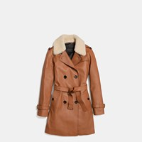 Coach Icon Leather Trench Saddle