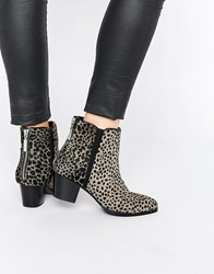 Religion Animal Time Ankle Boots Animal Print Multi