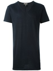 Tony Cohen V Neck T Shirt Blue