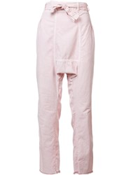 Nsf Straight Trousers Pink Purple