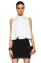 Christopher Kane Sleeveless Shirt With Metal Bar Detail In White