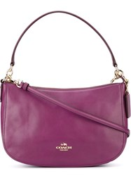 Coach Hobo Cross Body Bag Pink And Purple