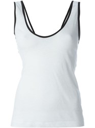 Forte Forte Contrast Trim Tank Top White