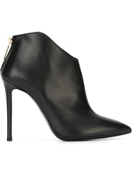 Pollini Stiletto Hell Ankle Boots Black