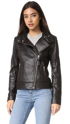Mackage Lisa Leather Jacket Black