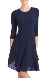 Women's Donna Morgan Crepe Fit And Flare Dress