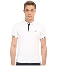 Armani Jeans Contrast Piping Polo White