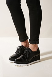 Forever 21 Sixtyseven Harlow Wedge Loafer Black