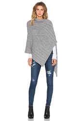 Kathryn Mccarron August Cable Knit Wrap Gray