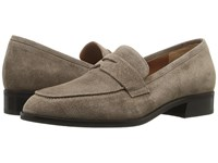 Aquatalia By Marvin K Sharon Taupe Pebbled Suede Women's Slip On Shoes Brown