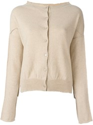 Kristensen Du Nord Round Neck Cardigan Nude And Neutrals