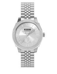 Versus By Versace Chelsea Pave Stainless Steel Link Bracelet Watch Sov030015 Silver