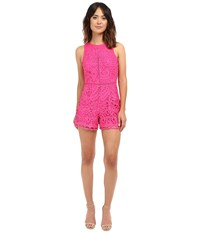 Adelyn Rae Sleeveless Lace Romper Magenta Women's Jumpsuit And Rompers One Piece Pink