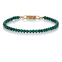 Suzanne Felsen Men's Beaded Bracelet Green