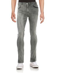 Selected Slim Straight Jeans Grey