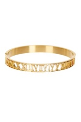 Roman Numeral Cutout Bangle Metallic