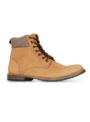 Topman Tan Nubuck Cuff Boots Brown