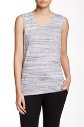 Candc California Denise Scoop Neck Back Cutout Tank Gray