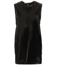 Miu Miu Faux Patent Leather Dress Black