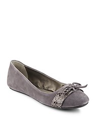 Kenneth Cole Reaction Truth Time Ballet Flats Charcoal