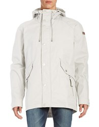 Strellson Hooded Stand Collar Coat Pastel Grey