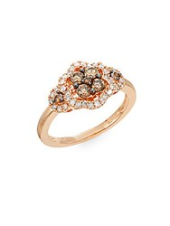 Effy White And Espresso Diamond And 14K Rose Gold Ring