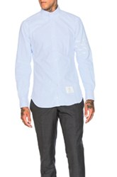 Thom Browne Hector And Bone Embroidered Oxford Shirt In Blue