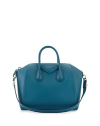 Antigona Medium Sugar Satchel Bag Dark Blue Givenchy