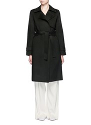 Theory 'Oaklane' Belted Wool Cashmere Coat Green