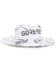 Herschel Supply Co. Text Print Boater Hat White