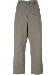 Golden Goose Deluxe Brand Straight Leg Trousers Green