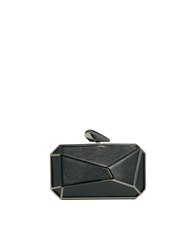 Liquorish Pixel Clutch Bag Black