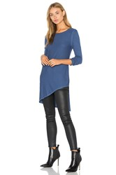 Heather Asym Angled Top Blue