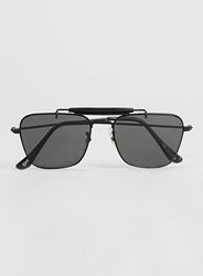 Topman Hindsight Vintage Black Sunglasses