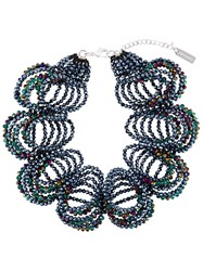 Night Market Six Loop Necklace Blue