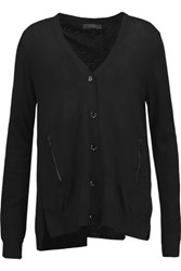 Belstaff Everson Split Back Wool Cardigan Black