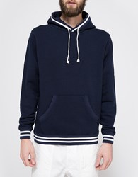 Beams Plus B Ribline P O Pk Sweatshirt Navy