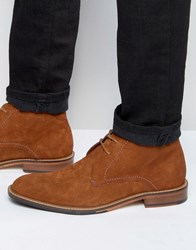 Ted Baker Torsdi Suede Short Boots Tan Brown