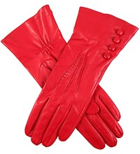 Dents Silk Lined Leather Gloves Berry