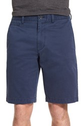 Nordstrom Men's Big And Tall Men's Shop Washed Flat Front Shorts Navy Iris