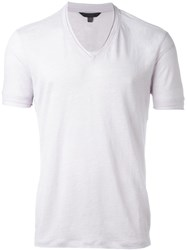 John Varvatos V Neck T Shirt Pink And Purple
