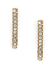 Bcbgeneration Crystal Studded Linear Earrings Gold